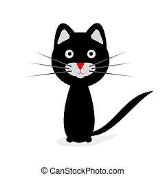 Black cat. Vector illustration