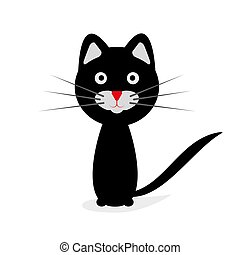 Black cat. Vector illustration