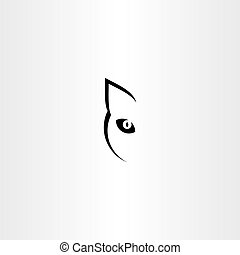 black cat vector logo icon symbol