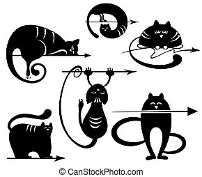 Black Cats collection with arrows