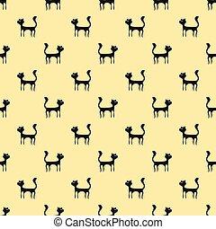 Black Cats Seamless Pattern