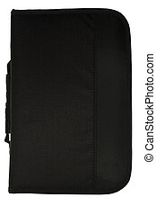 Black CD/DVD case on white with clipping path