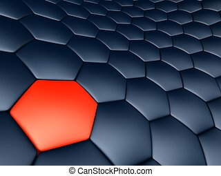 black cells - 3d rendered illustration of abstract black and...
