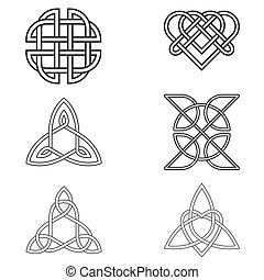 Celtic Endless Knot - Black Celtic Endless Knot isolated on...