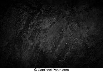 Black cement wall texture background