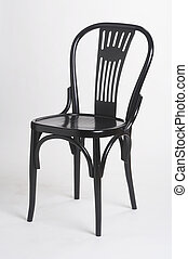 black chair II - schwarzer Stuhl II - black wood chair on...