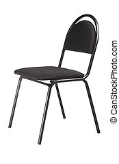 black chair isolated on white