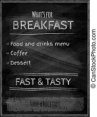 Black chalk board menu vector background
