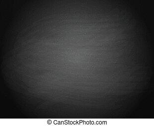 Black chalkboard background. Empty on a Black school board....
