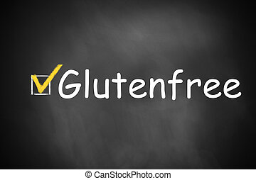 black chalkboard checkbox checked glutenfree