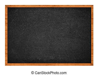Black chalkboard - Grungy black chalkboard with wooden frame...