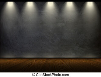 black chalkboard in empty room