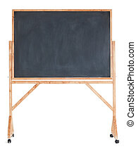 Black chalkboard on a white background