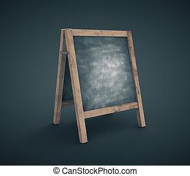 Black chalkboard on