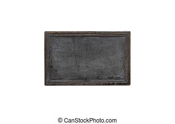 Black chalkboard on white background