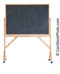 Black chalkboard on a white background