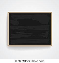 Black chalkboard with wooden frame. Vector eps-10.