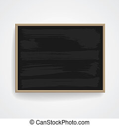 Black chalkboard with wooden frame. Vector eps-10.