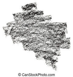 Black charcoal strokes