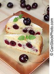 Black cherry sponge cake - Delicious homemade sponge cake ...