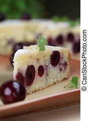 Black cherry sponge cake