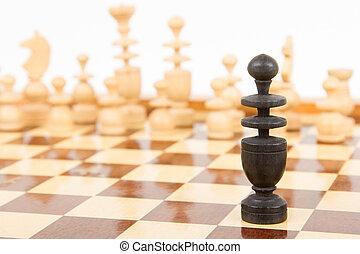 Black chess bishop isolated