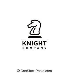 Black Chess Knight Horse Stallion