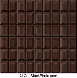 Black Chocolate Bar Seamless Background Pattern. Vector