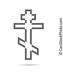 Black Christian Cross - vector illustration.