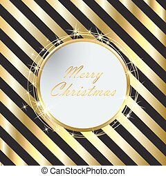 Black Christmas background with Golden stripes
