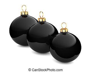 Black Christmas ball