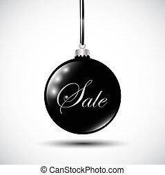 black Christmas bauble sale