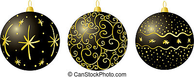 Black christmas decorations
