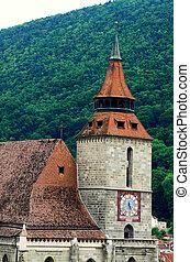 Black Church in Brasov, gothic style architecture in Transylvania, Romania