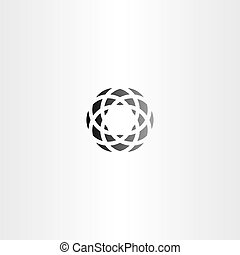 black circle abstract business logo element