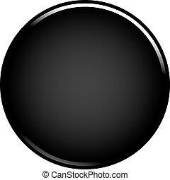 Black circle button blank web internet icon