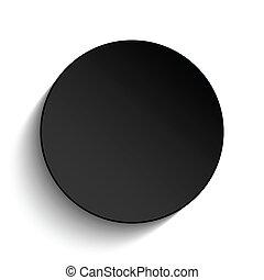 Black Circle Button on White Background