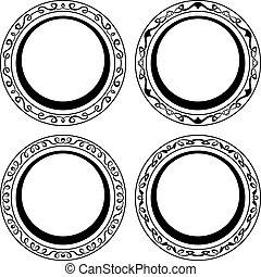 Black circle frame set