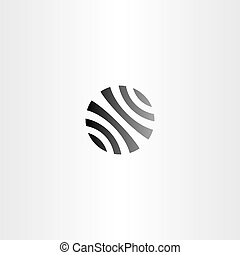 black circle globe business logo vector icon