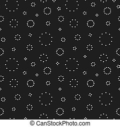 Black circles dotted background. Seamless pattern.