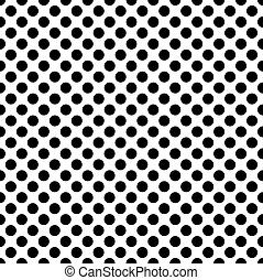 Black circles on a white background seamless pattern