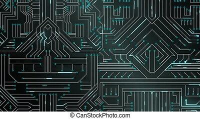 Black circuit board - Digitally generated black circuit...