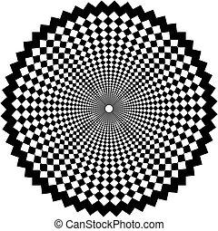 Black circular arabesque
