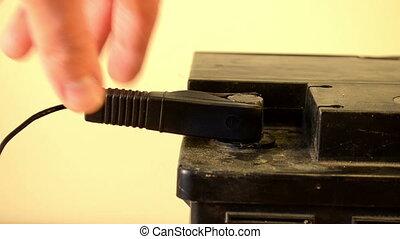 black clamp unplug hand