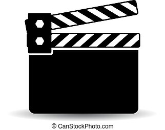 Black clapper board icon
