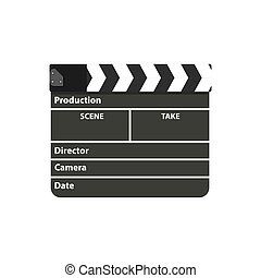 Black clapperboard. Movie clapper board