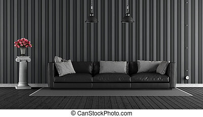 Black classic living room
