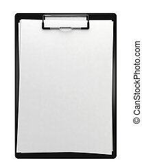 Black clipboard. 3d illustration isolated on white...