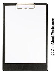 Black clipboard isolated on white