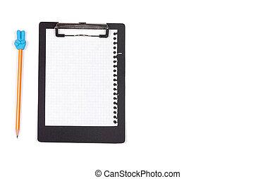 Black clipboard on white background